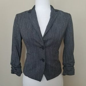 EXPRESS Blazer With Faux Leather Collar